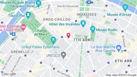 Hotel Le Tourville Map