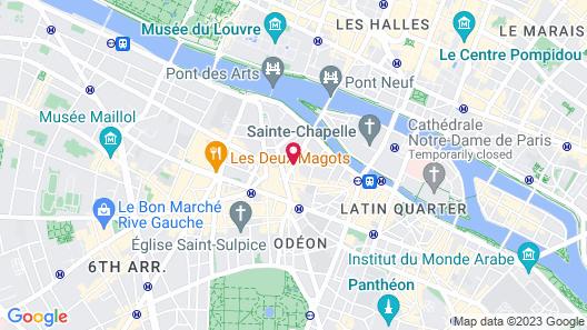 Dauphine Saint Germain Hotel Map