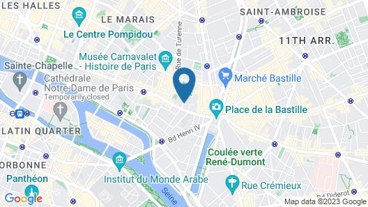 Boutique Hôtel de la Place des Vosges Map