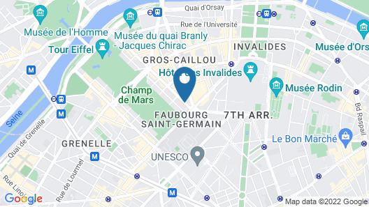 Hotel La Bourdonnais Map