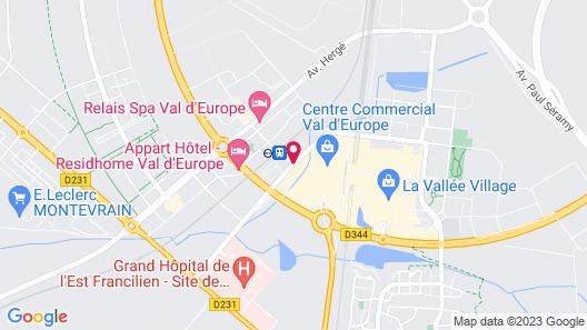 Hôtel l'Elysée Val d'Europe Map