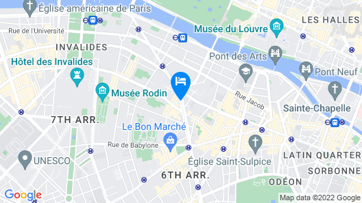 K+K Hotel Cayre Paris Map