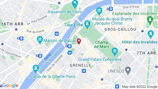 Mercure Paris Centre Tour Eiffel Map