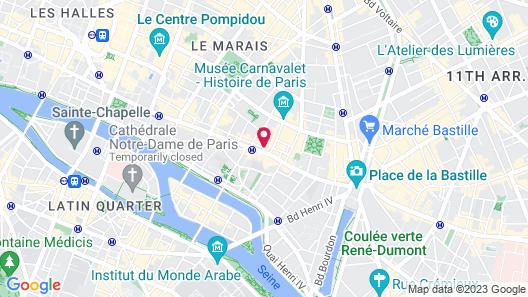 Hôtel Emile Map