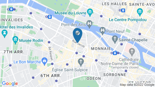 La Villa Saint Germain des Prés Map