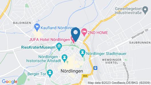 JUFA Hotel Nördlingen Map