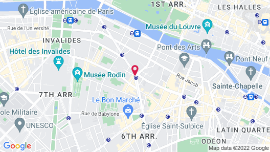 Hotel Bac Saint Germain Map