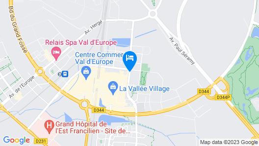 Aparthotel Adagio Marne la Vallée Val d'Europe Map