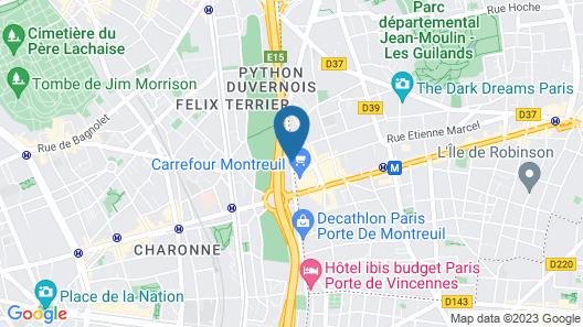 Novotel Suites Paris Montreuil Vincennes Map