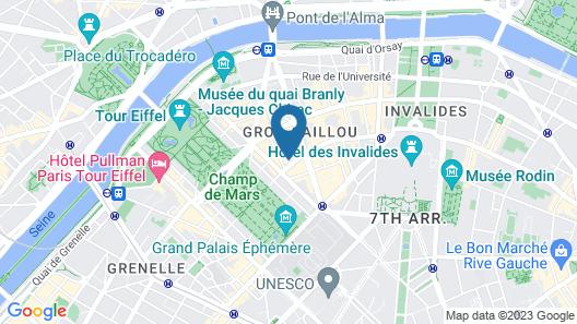 Hôtel de La Paix Tour Eiffel Map