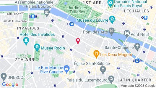 Hotel Montalembert Map