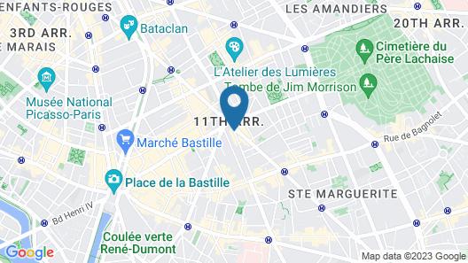 Mercure Paris Bastille Marais Map