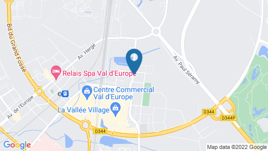 Hipark By Adagio Serris - Val D Europe Map