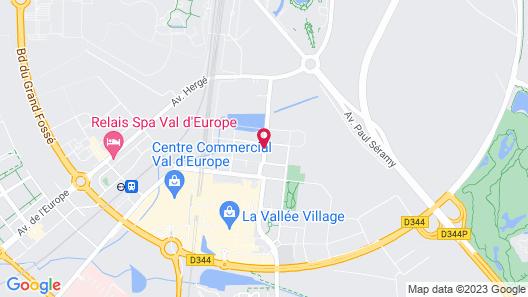 Aparthotel Adagio Serris - Val d'Europe Map