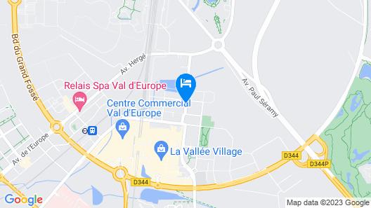 Hipark By Adagio Serris-Val d'Europe Map