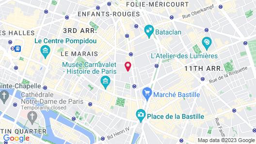 Villa Beaumarchais Map