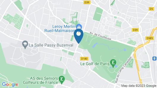 Renaissance Paris Hippodrome De St. Cloud Hotel Map
