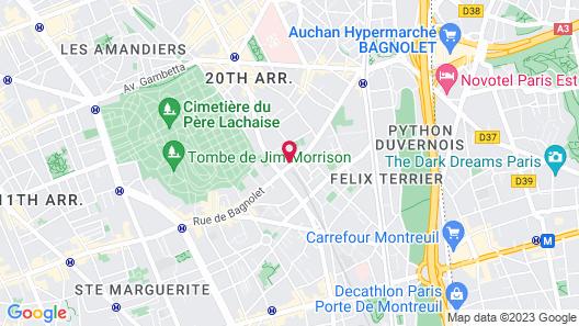 Mama Shelter Paris East Map
