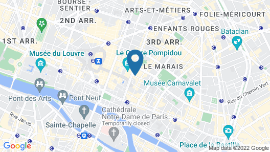 Hotel Beaubourg Map