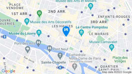 Citadines Les Halles Paris Map