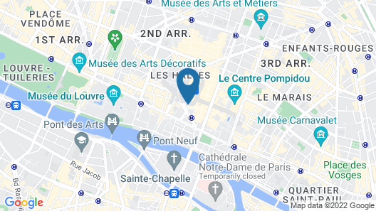 Novotel Paris Les Halles Map