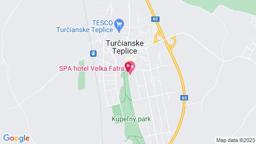 Hotel Velka Fatra Map