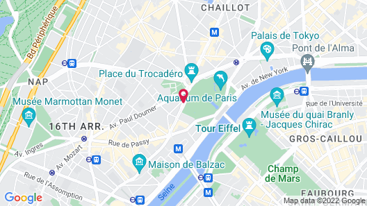 Hôtel Eiffel Trocadéro Map