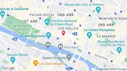 Hotel Saint Honore Paris Map