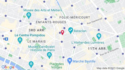 Hotel Beaumarchais Map