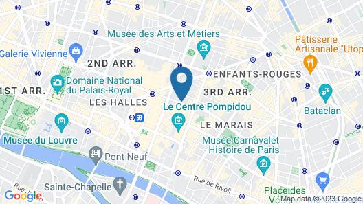 Hôtel Restaurant Georgette Map