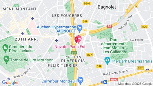 Novotel Paris Est Map