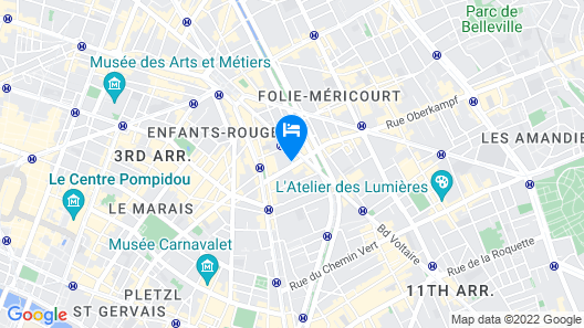 My Home in Paris Hotel Map