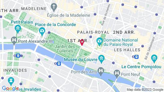 Hotel Regina Louvre Map