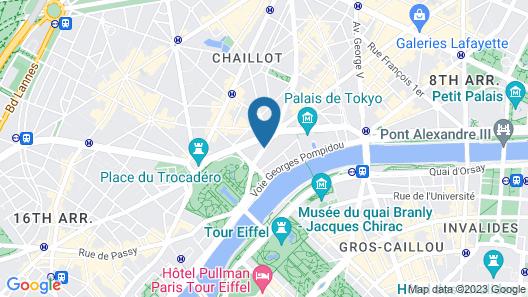 Shangri-La Hotel Paris Map