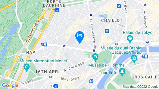 Plaza Tour Eiffel Hotel Map