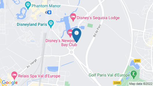 Disney's Newport Bay Club Map