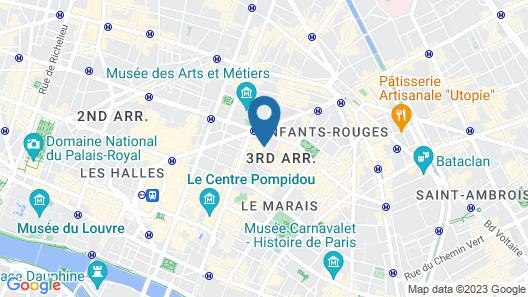Les Patios du Marais Map