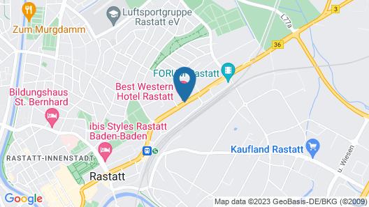Best Western Hotel Rastatt Map