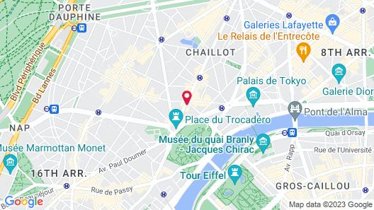 La Clef Tour Eiffel Paris by The Crest Collection Map