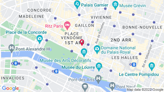 Hotel Lumen Paris Louvre Map