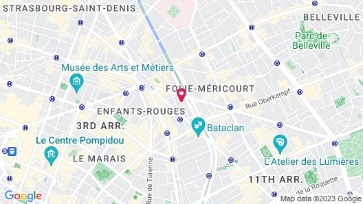Le 20 Prieure Hotel Map
