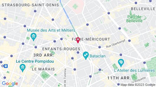 Hôtel Gabriel Paris Map