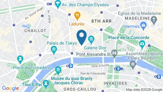 Hôtel Plaza Athénée - Dorchester Collection Map