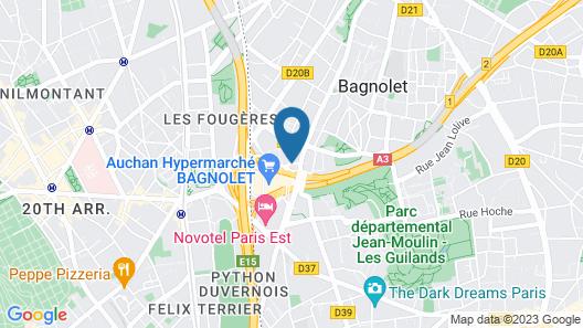 ibis budget Paris Porte de Bagnolet Map