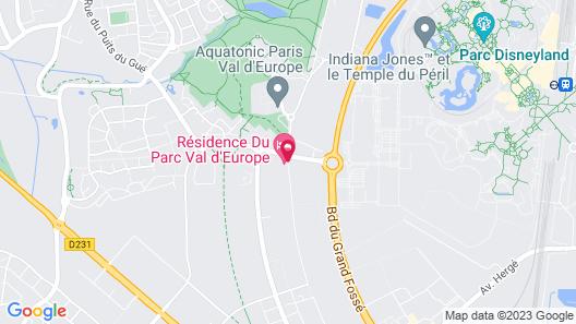 Résidence du Parc Val d'Europe Map