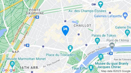 Citadines Trocadéro Paris Map