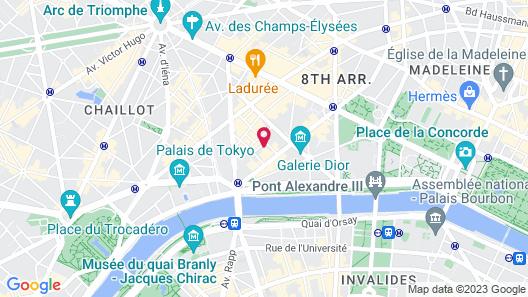 Hotel Chambiges Elysées Map