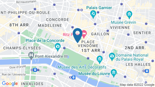 Mandarin Oriental, Paris Map