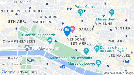Mandarin Oriental, Paris Map