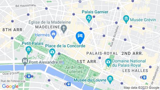 Ritz Paris Map